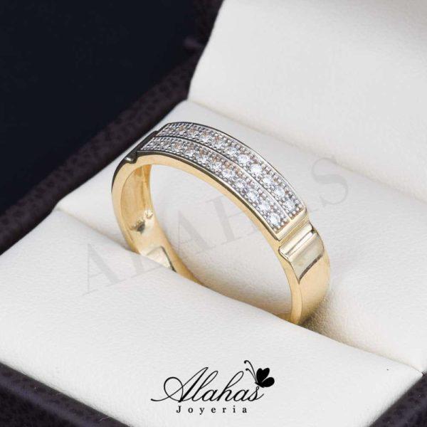 Alianza de boda oro 14k ao-013