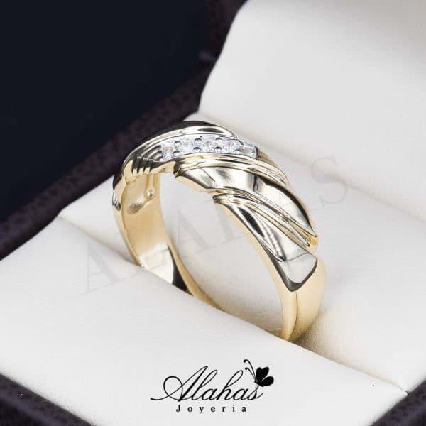 Alianza de boda oro 14k ao-014