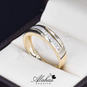 Alianza de boda oro 14k ao-016