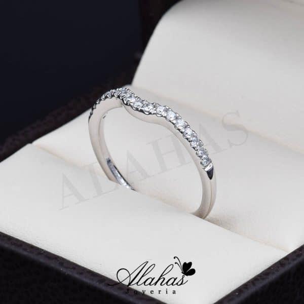 Alianza de boda en oro 14k con diamantes adiam-015