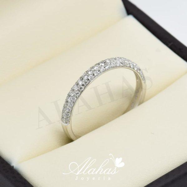 Alianza de boda en oro 14k con diamantes adiam-018