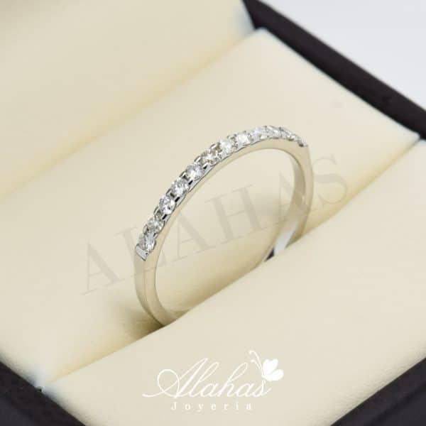 Alianza de boda en oro 14k con diamantes adiam-026