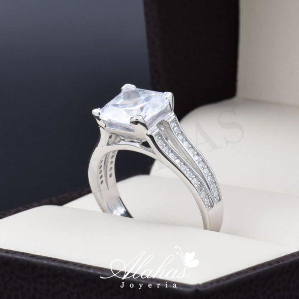 Anillo de compromiso en plata 925 ABPS-022