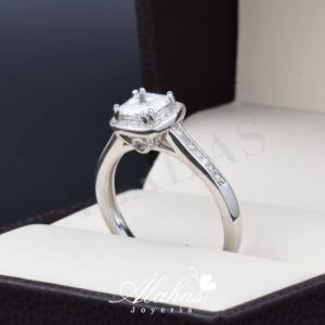 Anillo de compromiso en plata 925 ABPS-036