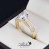 Anillo de compromiso oro 14k con zirconias soloz-050