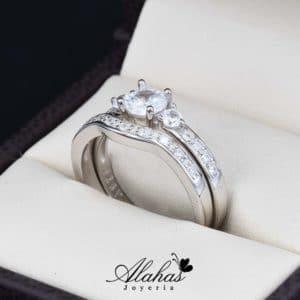Duo de boda en plata 925 abpd-005