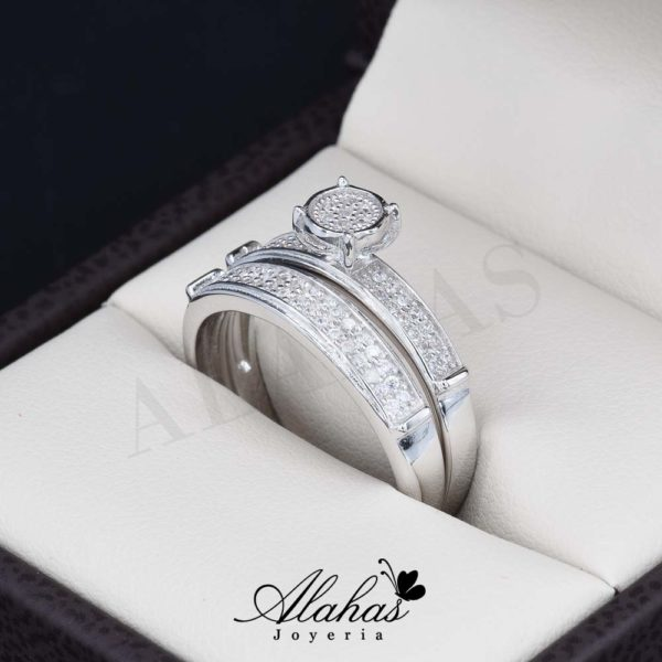 Duo de boda en plata 925 abpd-007