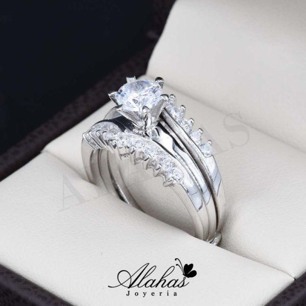 Duo de boda en plata 925 abpd-009