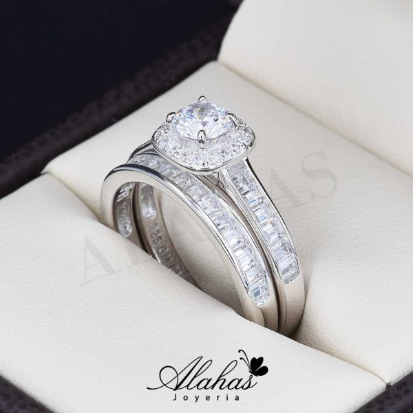 Duo de boda en plata 925 abpd-019