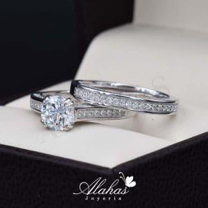 Duo de boda en plata 925 abpd-020