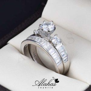 Duo de boda en plata 925 abpd-022