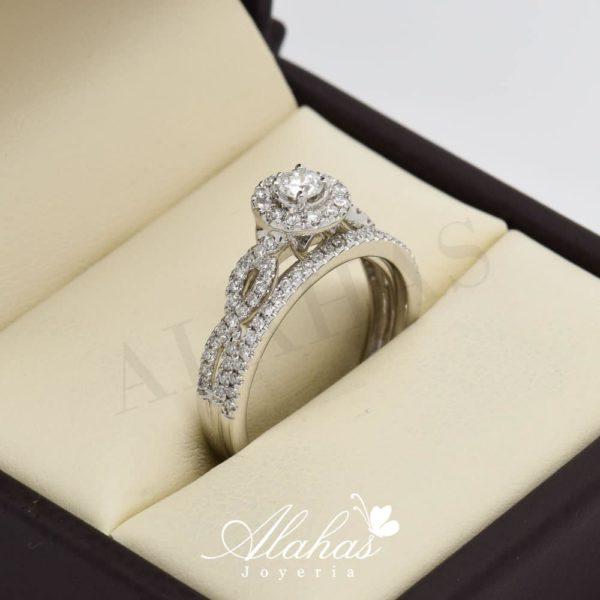 Duo de boda en oro 14k con diamantes ddiam-020