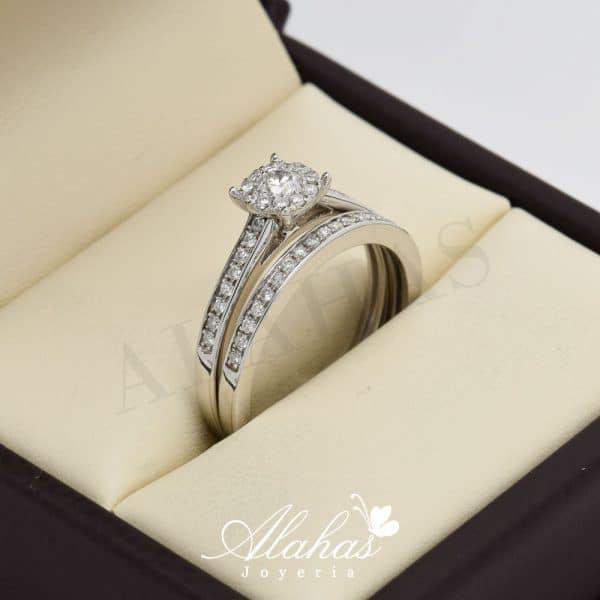 Duo de boda en oro 14k con diamantes ddiam-025