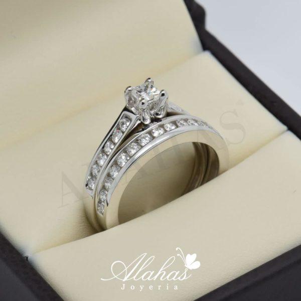 Duo de boda en oro 14k con diamantes ddiam-031