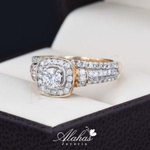 Duo de boda en oro 14k con diamantes ddiam-049