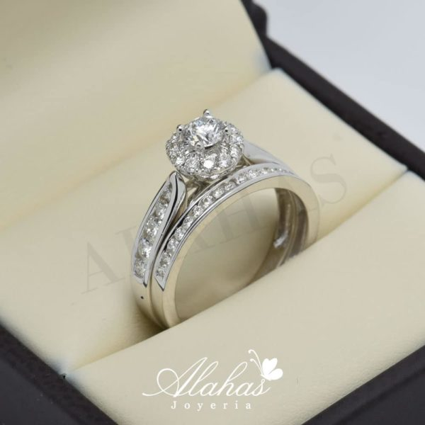Duo de boda en oro 14k con diamantes ddiam-060