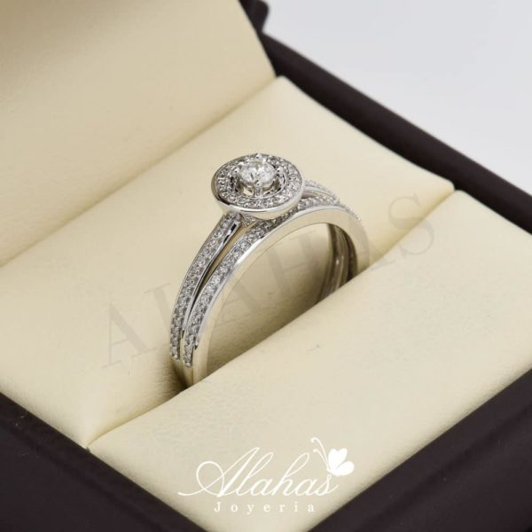 Duo de boda en oro 14k con diamantes ddiam-064