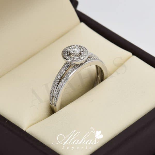 Duo de boda en oro 14k con diamantes ddiam-064