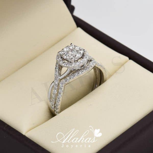 Duo de boda en oro 14k con diamantes ddiam-065