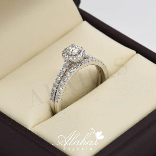 Duo de boda en oro 14k con diamantes ddiam-067