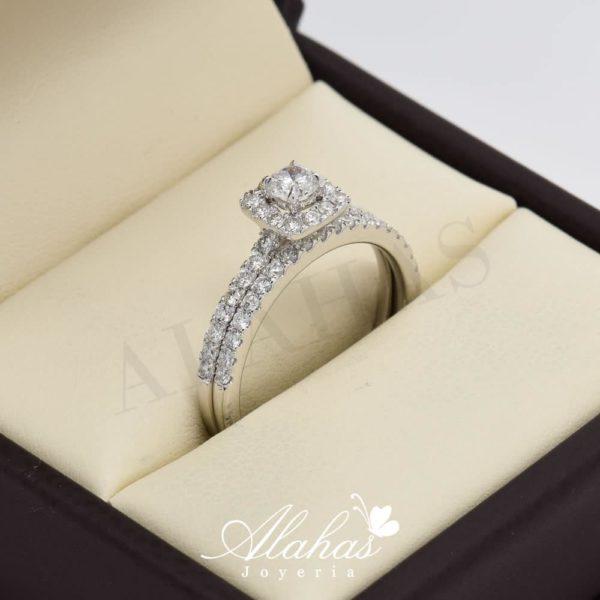 Duo de boda en oro 14k con diamantes ddiam-069