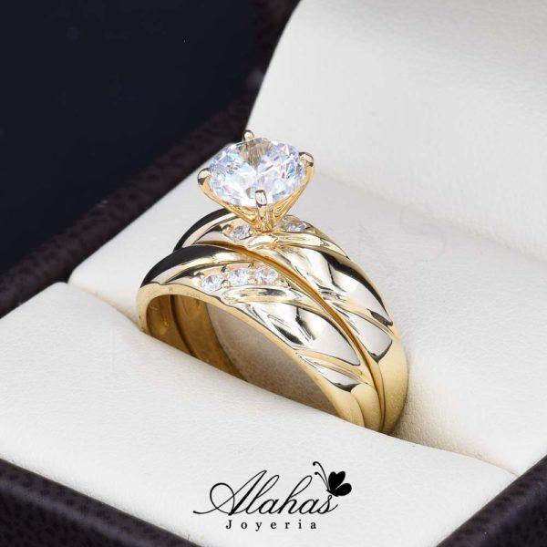 Duo de boda en oro 14k Joyeria Alahas DO-002