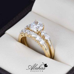 Duo de boda en oro 14k Joyeria Alahas DO-003