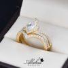 Duo de boda en oro 14k Joyeria Alahas DO-005