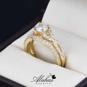 Duo de boda en oro 14k Joyeria Alahas DO-006