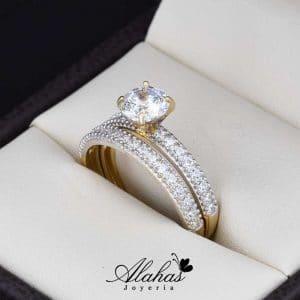 Duo de boda en oro 14k Joyeria Alahas DO-007
