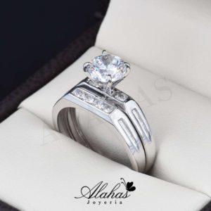 Duo de boda en oro 14k Joyeria Alahas DO-008