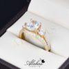 Duo de boda en oro 14k Joyeria Alahas DO-009