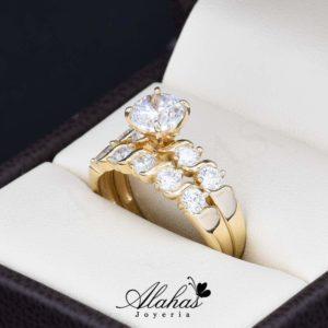 Duo de boda en oro 14k Joyeria Alahas DO-010