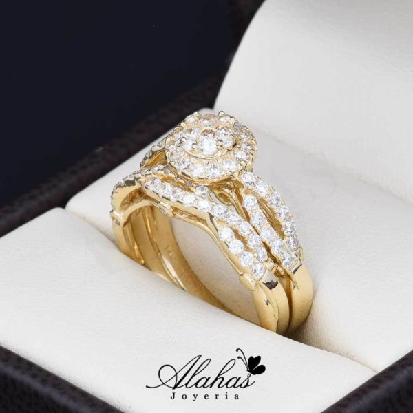 Duo de boda oro 14k Joyeria Alahas DO-012