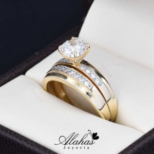 Duo de boda oro 14k Joyeria Alahas DO-013