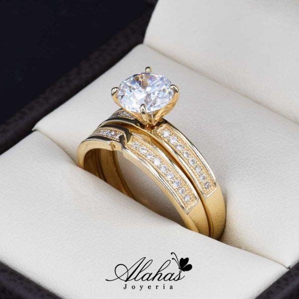 Duo de boda oro 14k Joyeria Alahas DO-015
