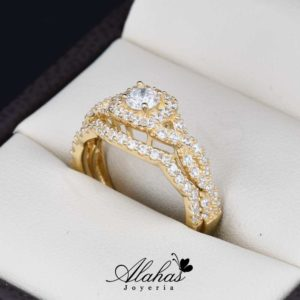 Duo de boda oro 14k Joyeria Alahas DO-018