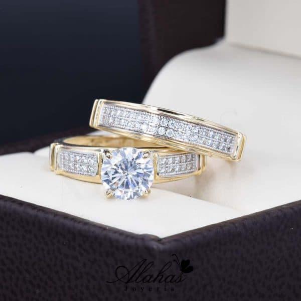 Duo de boda oro 14k Joyeria Alahas DO-021