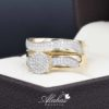 Duo de boda oro 14k Joyeria Alahas DO-025