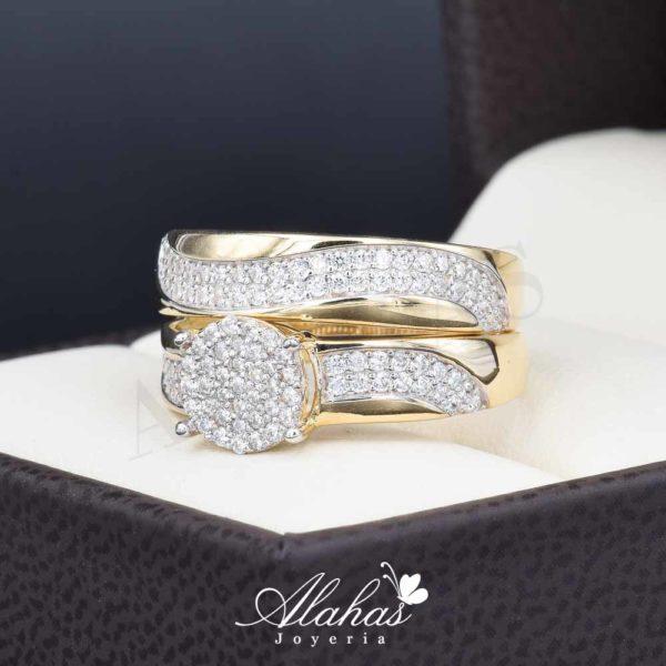 Duo de boda oro 14k Joyeria Alahas DO-025