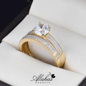 Duo de boda oro 14k Joyeria Alahas DO-028