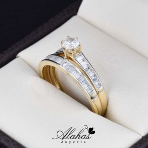 Duo de boda oro 14k Joyeria Alahas DO-029
