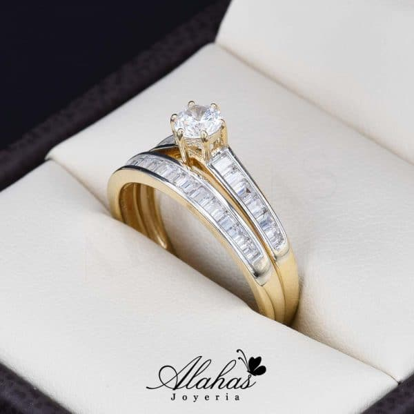 Duo de boda oro 14k Joyeria Alahas DO-029