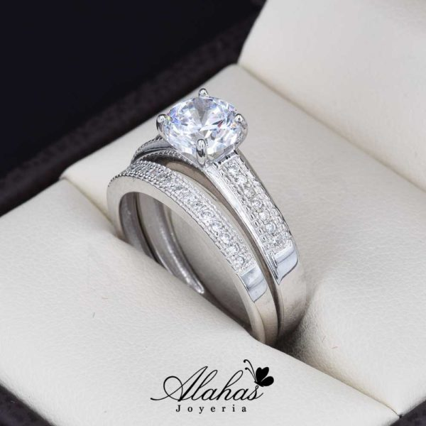Duo de boda oro 14k Joyeria Alahas DO-031