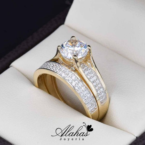 Duo de boda oro 14k Joyeria Alahas DO-034