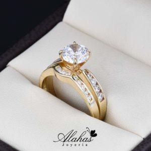 Duo de boda oro 14k Joyeria Alahas DO-035
