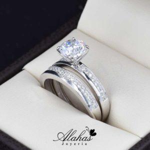 Duo de boda oro 14k Joyeria Alahas DO-036