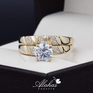 Duo de boda oro 14k Joyeria Alahas DO-037