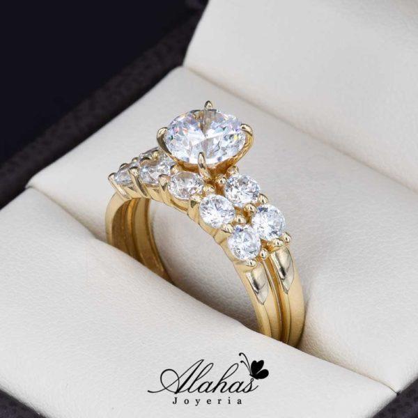 Duo de boda oro 14k Joyeria Alahas DO-039