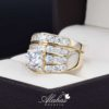 Duo de boda oro 14k Joyeria Alahas DO-046